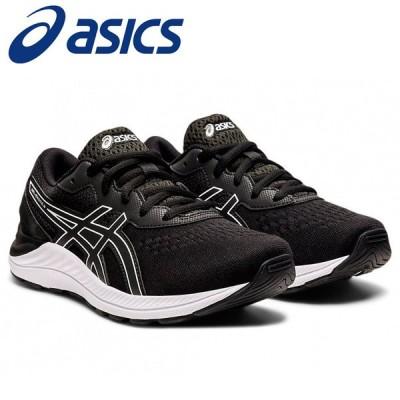 アシックス ランニング GEL-EXCITE 8 GS キッズシューズ 1014A201-002 黒靴 黒スニーカー ブラック
