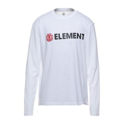 エレメント ELEMENT T シャツ ホワイト L コットン 100% T シャツ
