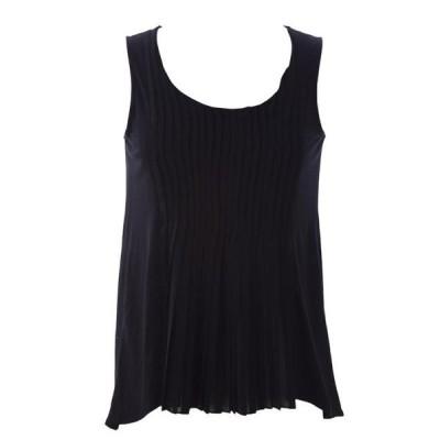 レディース 衣類 トップス August Silk Women's Petite Pleat Front Sleeveless Blouse ブラウス&シャツ
