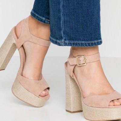 ニュールック レディース サンダル PANTHA - High heeled sandals - oatmeal