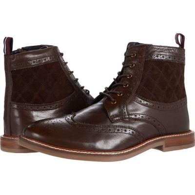 ベンシャーマン Ben Sherman メンズ ブーツ ウイングチップ シューズ・靴 Birk Wing Tip Boots Brown Leather