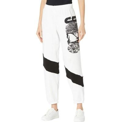 ローレンモシ Lauren Moshi レディース スウェット・ジャージ ボトムス・パンツ Ophelia 90210 Lightweight Sweatpants White/Black