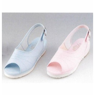 M8 カラープラットサンダル (ピンク ブルー ナースサンダル ナースシューズ サンダル マリアンヌ mariannu ナース靴
