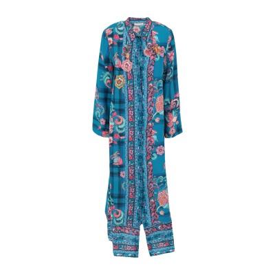 アンジュナ ANJUNA ロングワンピース&ドレス ターコイズブルー XS シルク 100% ロングワンピース&ドレス