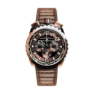 Bomberg BOLT-68 Men's Chronograph Watch Brown & Black PVD Brown Leather Strap BS45CHPBRBA.050-2.3並行輸入品
