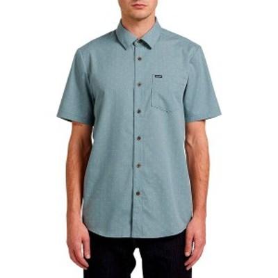 ボルコム メンズ シャツ トップス Stallcup Short-Sleeve Button-Down Shirt Cool Blue