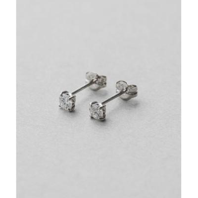 【エテ/ete】 PT900 ダイヤモンド 0.2ct ピアス「ブライト」