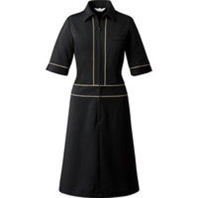 チトセチトセ ワンピース〔五分袖〕 女性用 ブラック 7号 CL-0252(取寄品)