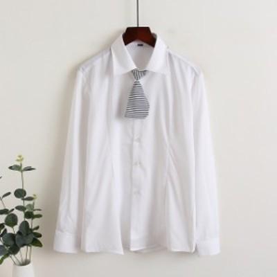春新作 レディース ブラウス レディース 韓国 ブラウス 春 オフィス シャツ ブラウス レディース 長袖 大人可愛い シャツ トップス ボウ