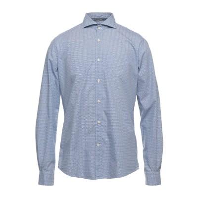 PORTOFIORI シャツ ブルー 41 コットン 100% シャツ