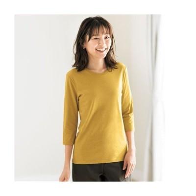 シンプルクルーネックTシャツ(七分袖) NB-6137