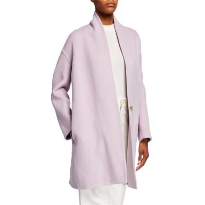 ヴィンス レディース コート アウター Collarless Wool Blend Coat