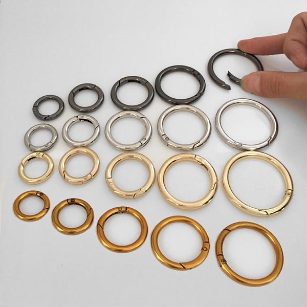 包包環扣 配件 開口彈簧圈女包鉤扣鏈條調節扣包包五金配件金屬扣