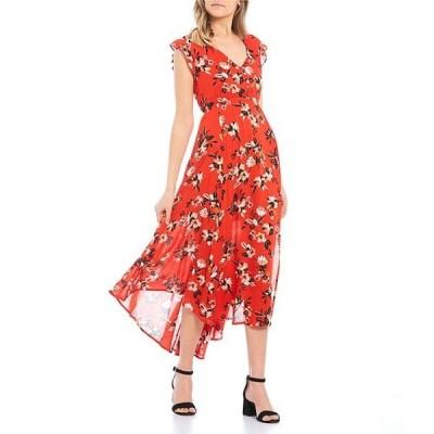 ジェシカシンプソン レディース ワンピース トップス Gabbie Floral Print Maxi Dress
