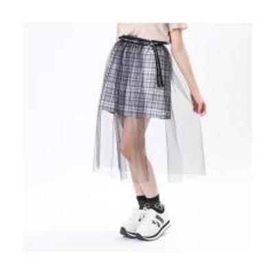エフオーオンラインストアチュール重ねプリーツスカート【お取り寄せ商品】