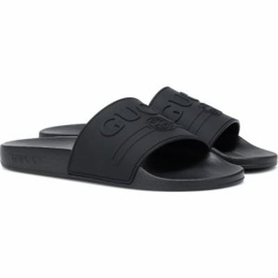 グッチ Gucci レディース サンダル・ミュール シューズ・靴 Logo-embossed slides Nero/F564