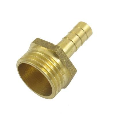uxcell ホースバーブ バーブフィッティング 結合コネクタ オスネジ ガス 異径 8mm 21mm ゴールド トーン