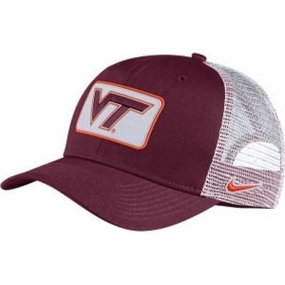 ナイキ メンズ 帽子 アクセサリー Nike Men's Virginia Tech Hokies Maroon Classic99 Trucker Hat -