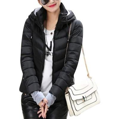 ASHERANGEL レディースコート ダウンジャケット ダウンコート ジャケット フード付き 長袖 ショート丈 厚手 中綿 防寒 防風 暖かい 軽量