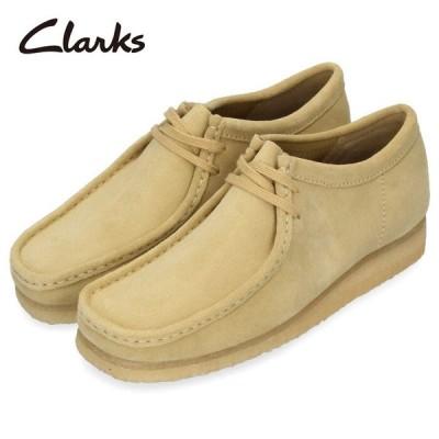 クラークス Clarks メンズ ワラビー Wallabee 979E メープルスエード ベージュ 革 レースアップ セール