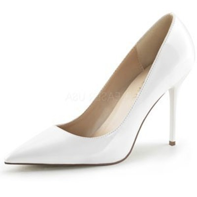 "Pleaser プリーザー パンプス  CLASSIQUE-20 4"" Heel  (clas20-w) ハイヒール レディース シューズ 靴 お取り寄せ商品"