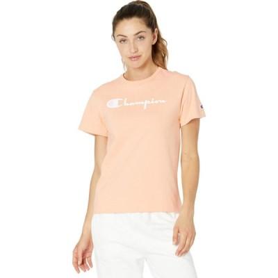 チャンピオン Champion LIFE レディース Tシャツ トップス The Heritage Tee Certain Peach