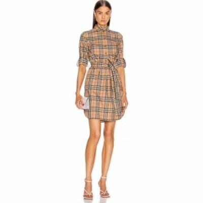 バーバリー Burberry レディース ワンピース ワンピース・ドレス long sleeve dress Archive Beige Check