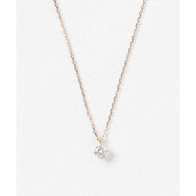 ネックレス K18 ダイヤモンド 0.2ct ネックレス「ブライト」