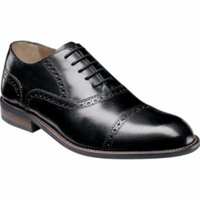 フローシャイム 革靴・ビジネスシューズ Pascal Cap Toe Oxford Black Leather