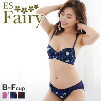 ブラジャー ショーツ セット46%OFF (イーエスフェアリー)ES Fairy アモーレローザ ブラジャー ショーツ セット BCDEF プチプラ 大きいサ