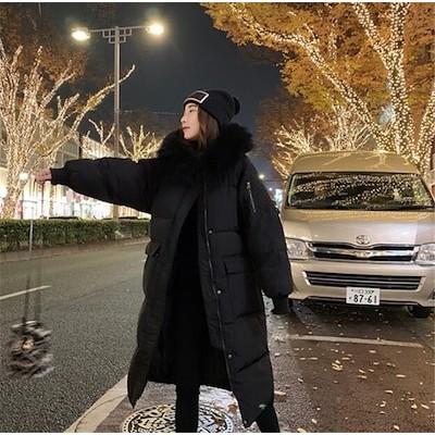 秋新入荷 限定特価!! 防寒ダウンジャケット しっかり暖か 新作 コート 冬 ロングタイプ 軽量 アウター ロングセクション 怠惰な風 カジュアル スリム トップス