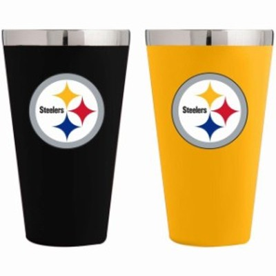 The Memory Company ザ メモリー カンパニー スポーツ用品  Pittsburgh Steelers Team Color 2-Pack Stainless Steel Pi