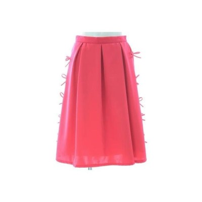 パイピングリボンスカート (ピンク)