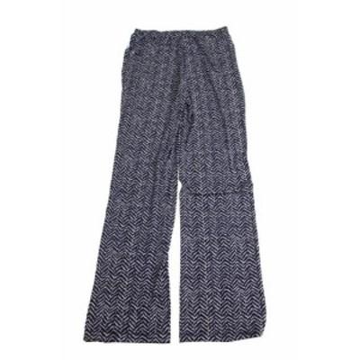 ファッション パンツ Charter club new blue printed wide leg soft pants