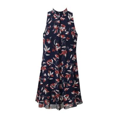 ロビービー レディース ワンピース トップス Floral Sleeveless Dress NAVY