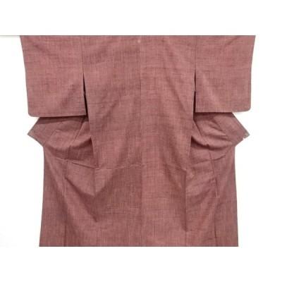 リサイクル 一つ紋手織り真綿紬単衣着物