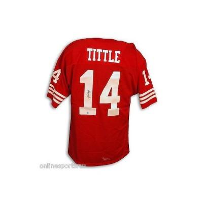フットボール NFLアメリカン ウェア ユニフォーム アスレティック ニット Y.A. Tittle Autographed Throwback Jersey San Francisco 49ers