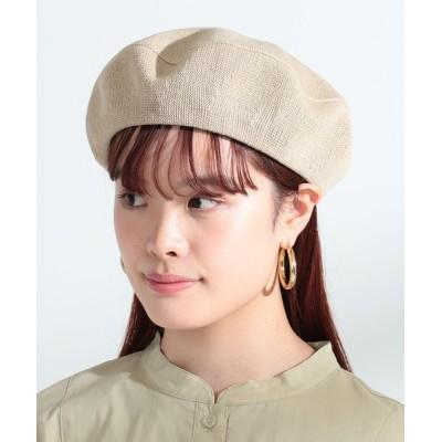 BEAMS WOMEN / Ray BEAMS / コットン リネン ベレー WOMEN 帽子 > ハンチング/ベレー帽