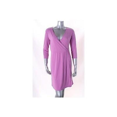 ニューヨークコレクション ドレス ワンピース フォーマル Elementz ライト パープル Petite Faux ラップ Solid B スリム ドレス PS 64LAFO