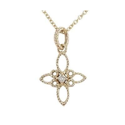 K18 18金 PG ピンクゴールド ネックレス ダイヤ 総重量約2.4g ジュエリー 中古 新品同様 【中古】
