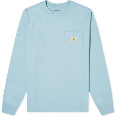 カーハート Carhartt WIP メンズ 長袖Tシャツ ポケット トップス long sleeve pocket tee Frosted Blue