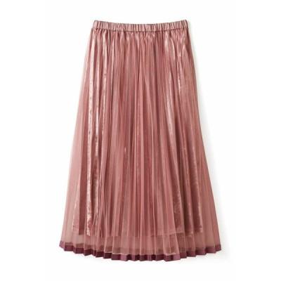 フェリシモ チュールでラッピング♪ベロアスカート〈ダルピンク〉