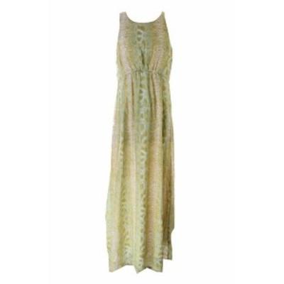 Maxi  ファッション ドレス Bar III yellow multi sleeveless printed maxi dress l