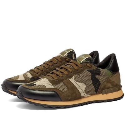 ヴァレンティノ Valentino メンズ スニーカー シューズ・靴 Knit Rockrunner Sneaker Army