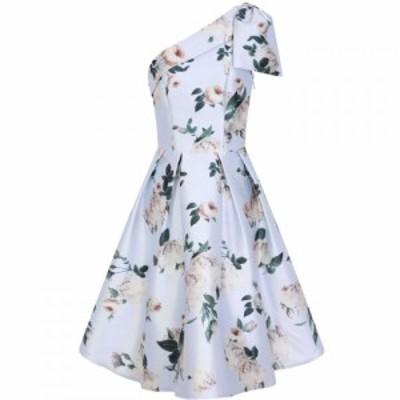 チチ Chi Chi レディース パーティードレス ワンピース・ドレス Floral Printed Midi Dress Blue