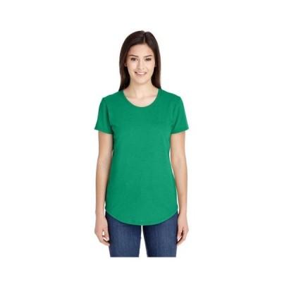 レディース 衣類 トップス Anvil Women's Triblend Scoop Neck T-Shirt Style 6750L Tシャツ