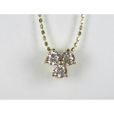 K18YGダイヤ ペンダント ネックレス