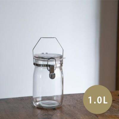 星硝 セラーメイト 取手付密封びん 1L 密封瓶 取手付き ガラス 保存容器 密閉 瓶 日本製 Ce
