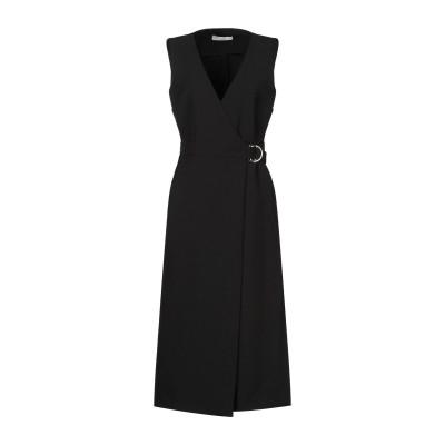 SUOLI 7分丈ワンピース・ドレス ブラック 40 ポリエステル 70% / レーヨン 24% / ポリウレタン 6% 7分丈ワンピース・ドレス