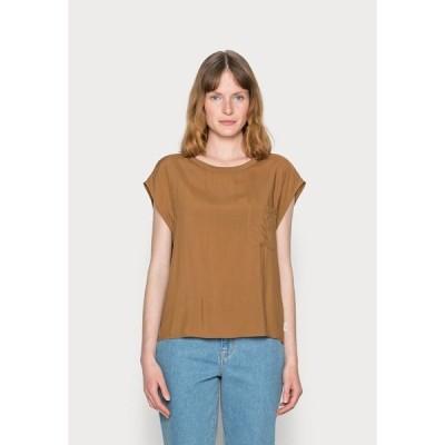 マルコポーロ デニム Tシャツ レディース トップス BLOUSE SHAPE - Blouse - brown ochre